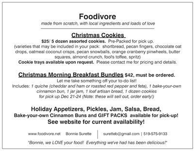 Holiday offerings backside